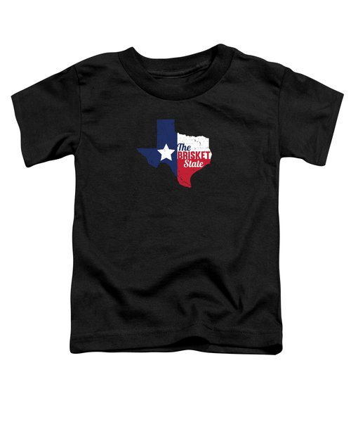 Texas Brisket State Bbq Barbecue Gift Toddler T-Shirt