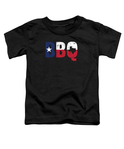 Texas Flag Barbecue Bbq Texan Gift Toddler T-Shirt