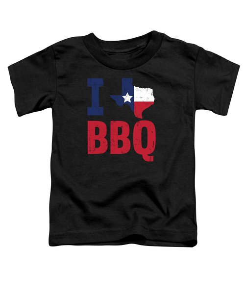 Texas Flag Barbecue Texan Gift Bbq Toddler T-Shirt