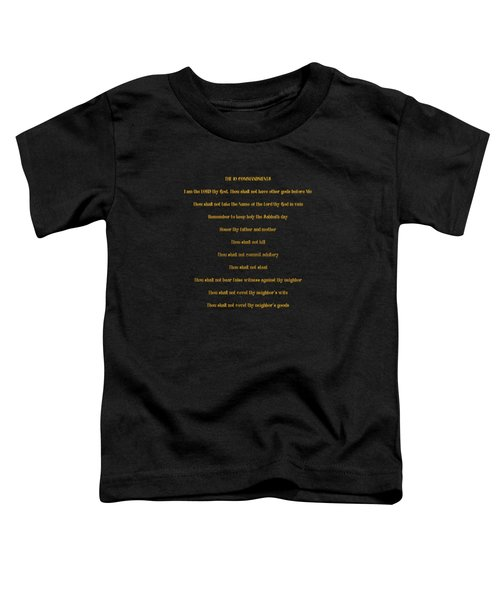 The 10 Commandments Toddler T-Shirt
