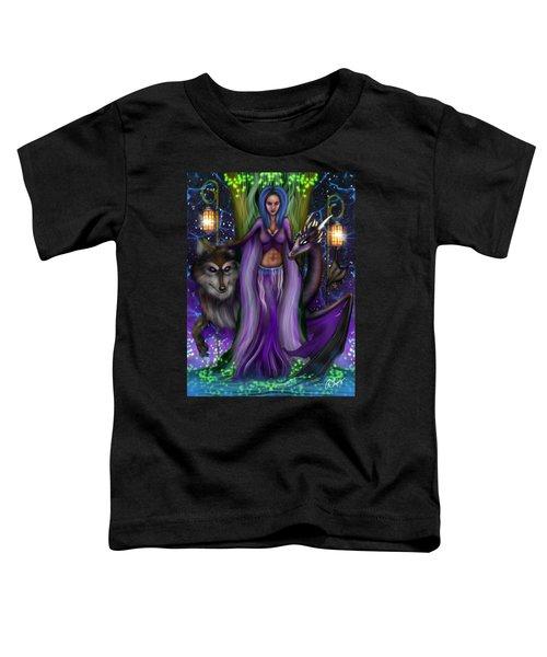 The Animal Goddess Fantasy Art Toddler T-Shirt