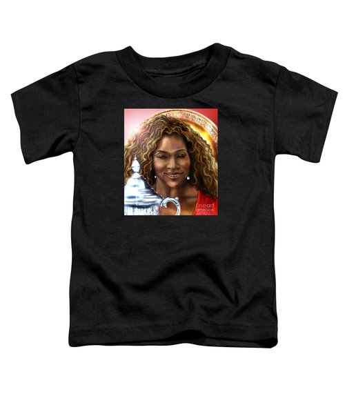 The Beauty Victory That Is Serena Toddler T-Shirt by Reggie Duffie