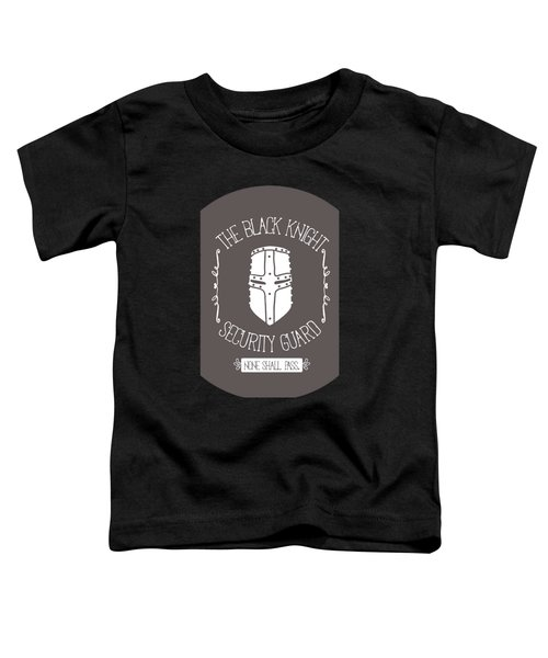 The Black Knight Toddler T-Shirt by Christopher Meade