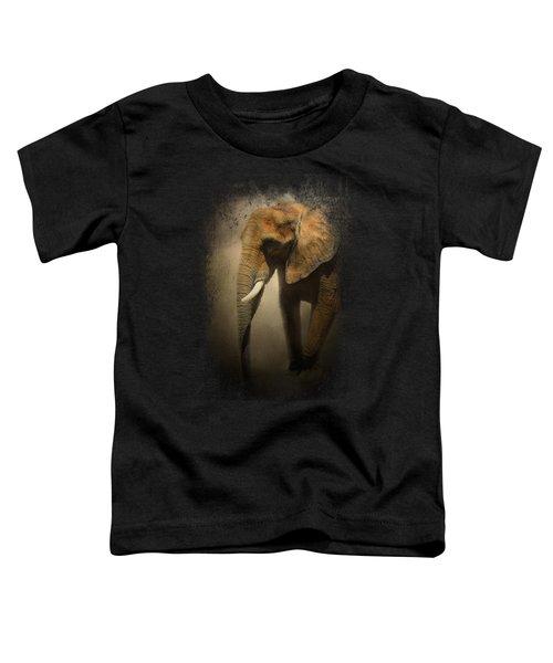 The Elephant Emerges Toddler T-Shirt by Jai Johnson