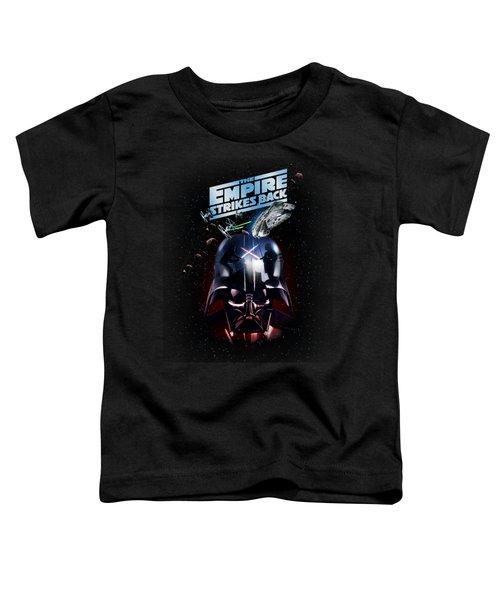 The Empire Strikes Back Toddler T-Shirt by Edward Draganski