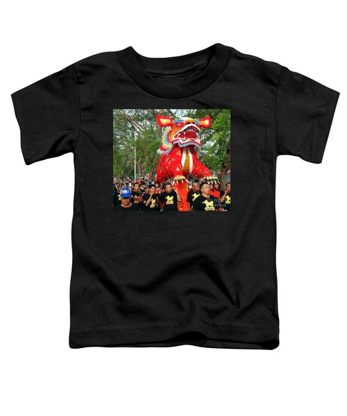 The Fire Lion Procession In Southern Taiwan Toddler T-Shirt