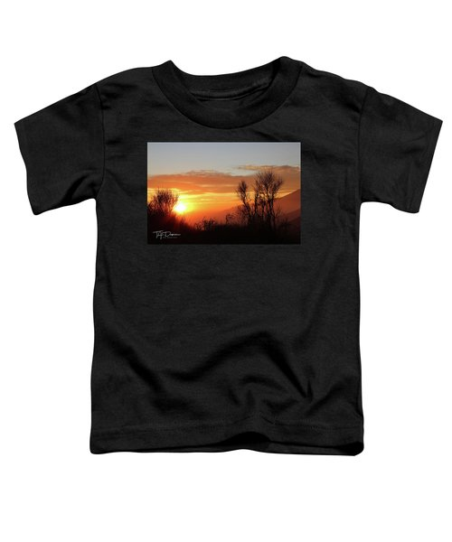 The Fire Of Sunset Toddler T-Shirt