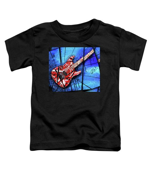 The Frankenstrat Vii Cropped Toddler T-Shirt by Gary Bodnar