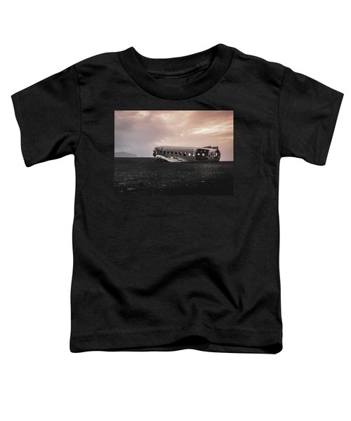 The Ghost - Plane Wreck In Iceland Toddler T-Shirt