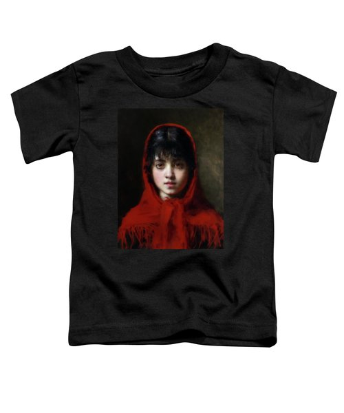 The Girl In The Red Shawl Toddler T-Shirt