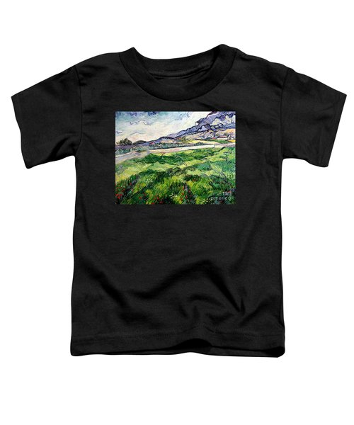 The Green Wheatfield Behind The Asylum Toddler T-Shirt