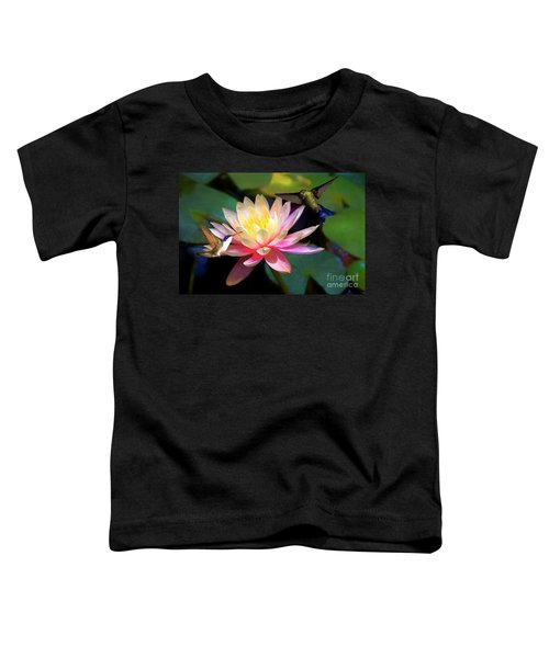 The Grutas Water Lillie With Hummingbirds Toddler T-Shirt
