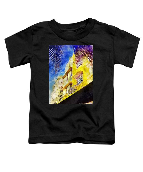 The Leslie Hotel South Beach Toddler T-Shirt by Jon Neidert