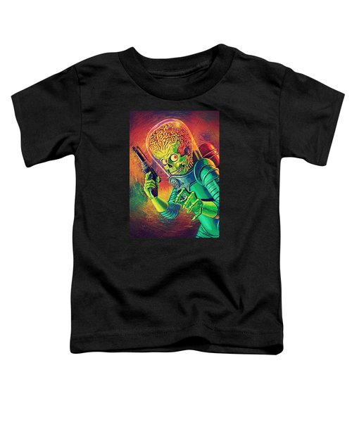 The Martian - Mars Attacks Toddler T-Shirt by Taylan Apukovska