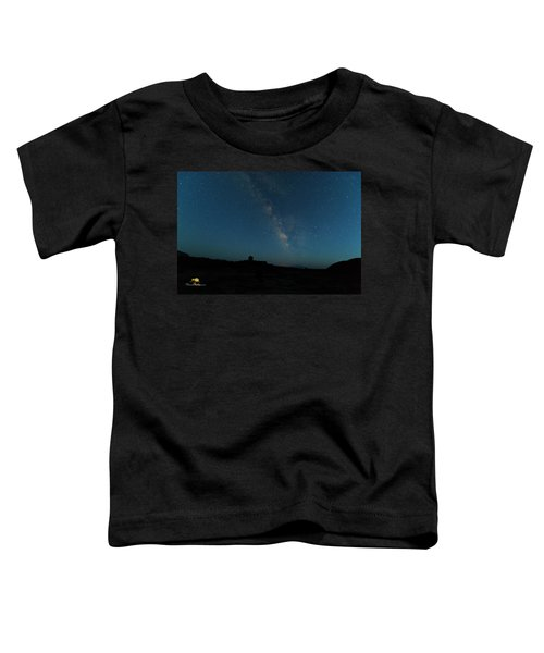 The Milky Way At Goblin Valley Toddler T-Shirt