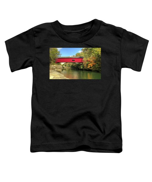 The Narrows Covered Bridge - Sideview Toddler T-Shirt
