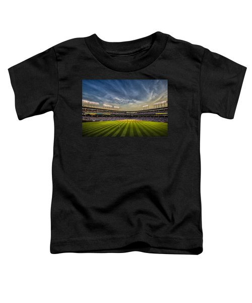 The New Wrigley Field With Pretty Sunset Sky Toddler T-Shirt