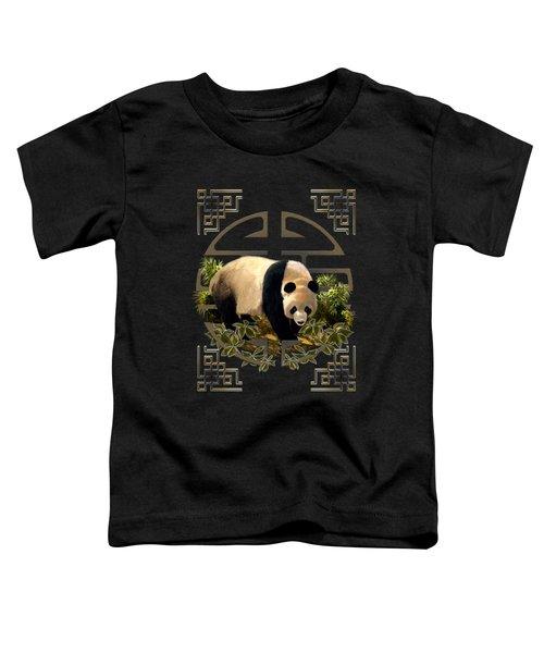 The Panda Bear And The Great Wall Of China Toddler T-Shirt