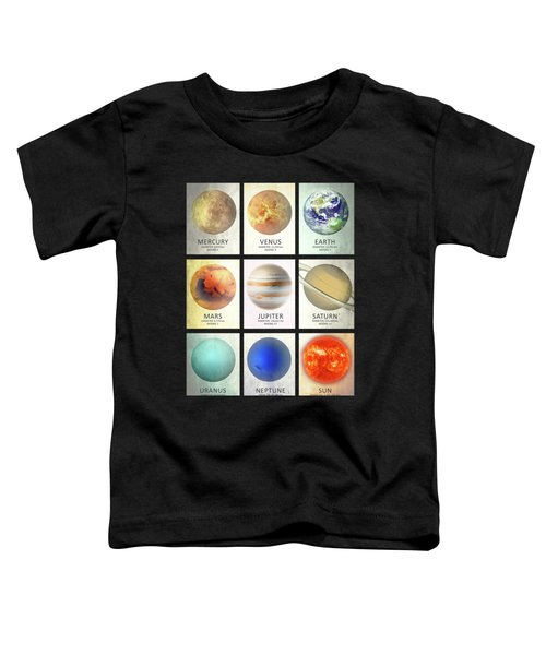 The Planets Toddler T-Shirt by Mark Rogan