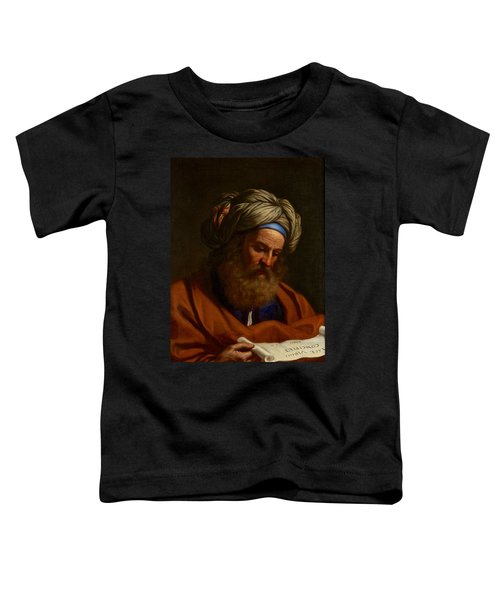 Toddler T-Shirt featuring the painting The Prophet Isaiah by Celestial Images