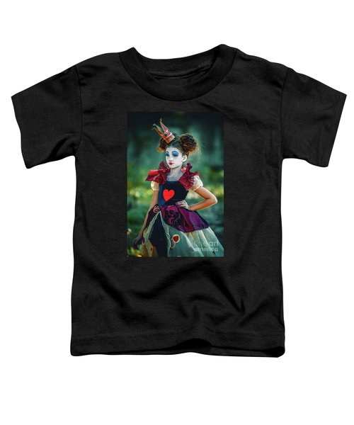 The Queen Of Hearts Alice In Wonderland Toddler T-Shirt