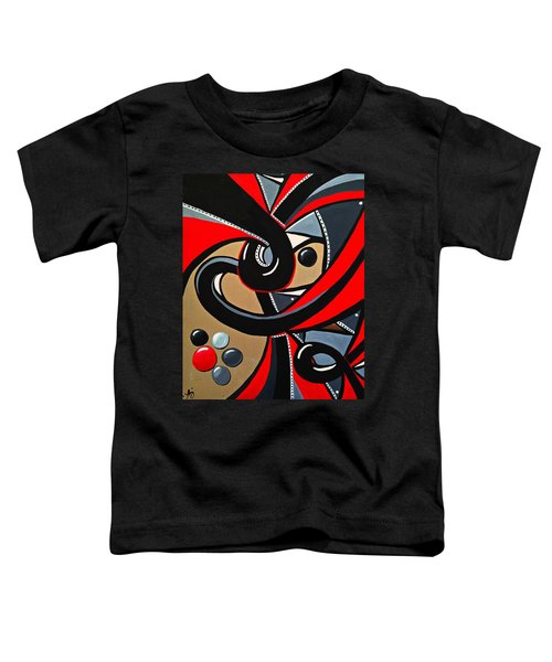 Red And Black Abstract Art Painting Toddler T-Shirt