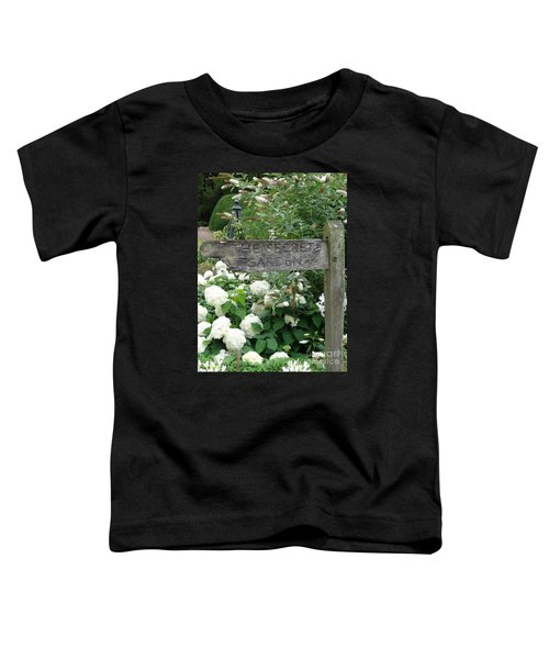 The Secret Garden Sign Toddler T-Shirt