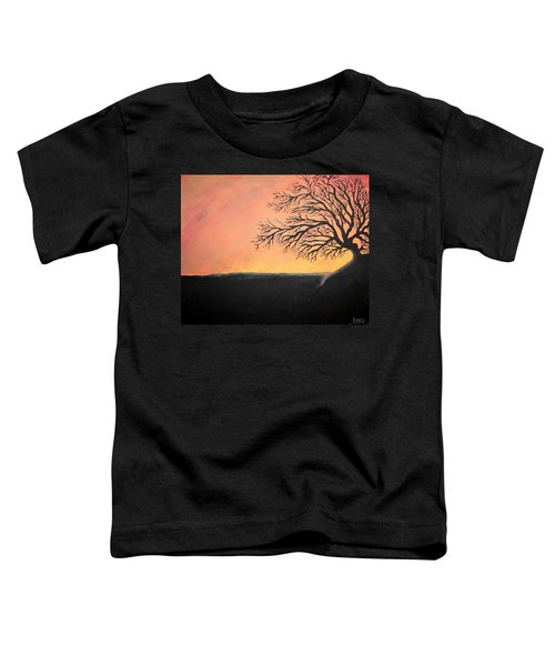 Toddler T-Shirt featuring the painting The Sun Was Set by Antonio Romero
