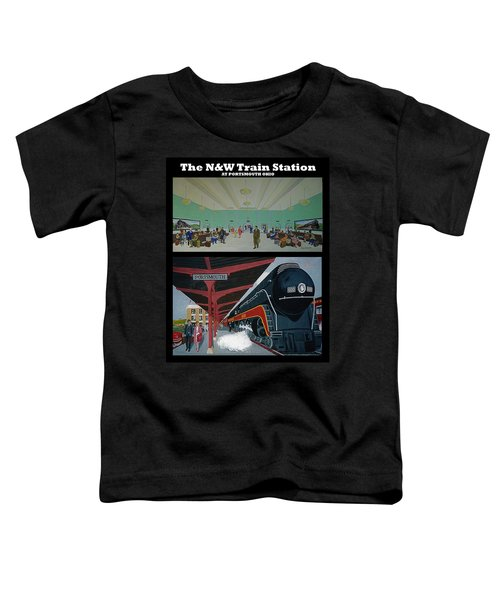 The Train Station At Portsmouth Ohio Toddler T-Shirt