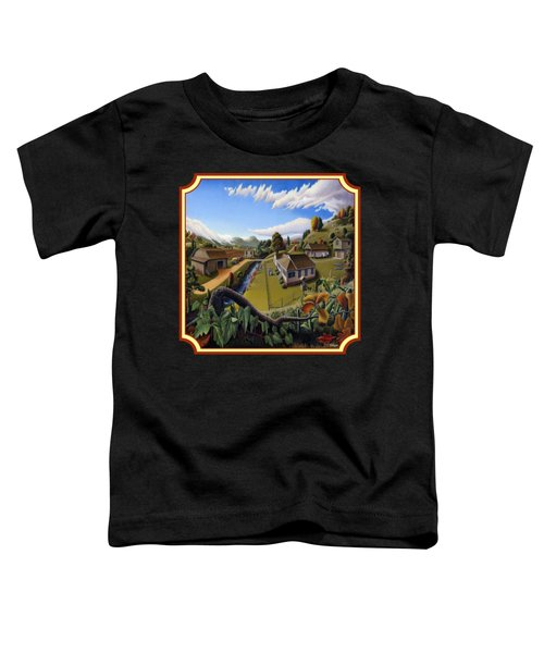 The Veon's Farm Life Country Landscape - Square Format Toddler T-Shirt