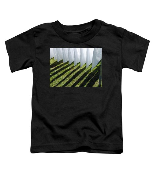 The Washing Is On The Line - Shadow Play Toddler T-Shirt