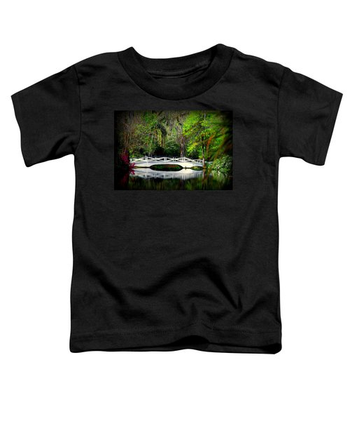 The White Bridge In Magnolia Gardens Sc Toddler T-Shirt