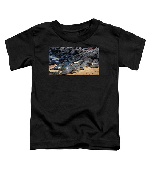 Toddler T-Shirt featuring the photograph There Has Got To Be More Room On This Beach  by Jim Thompson