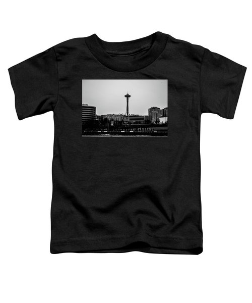 This Is Seattle Black And White Toddler T-Shirt
