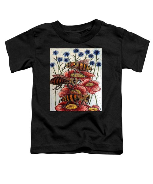 Three Busy Bees Toddler T-Shirt