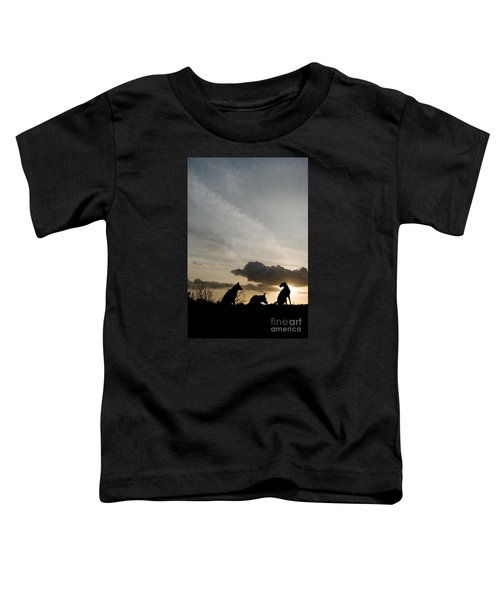 Three Dogs At Sunset Toddler T-Shirt