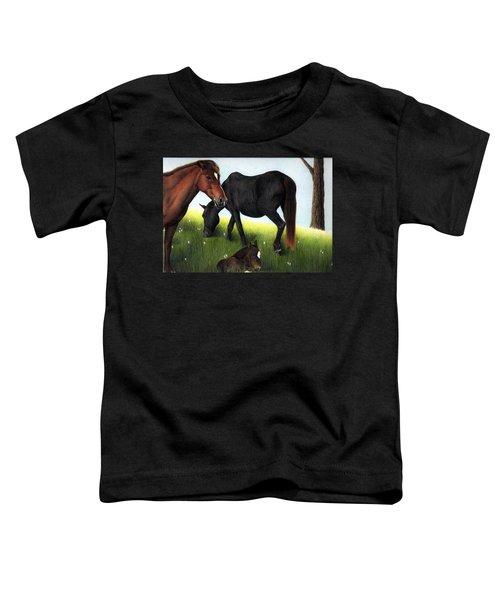 Three Horses Toddler T-Shirt