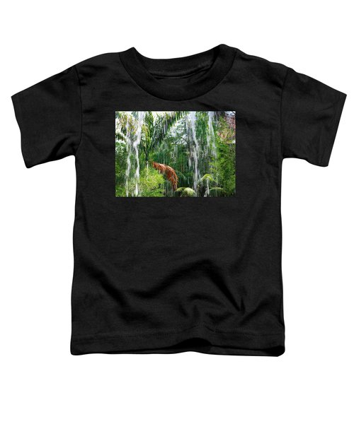 Toddler T-Shirt featuring the photograph Through The Waterfall by Alison Frank