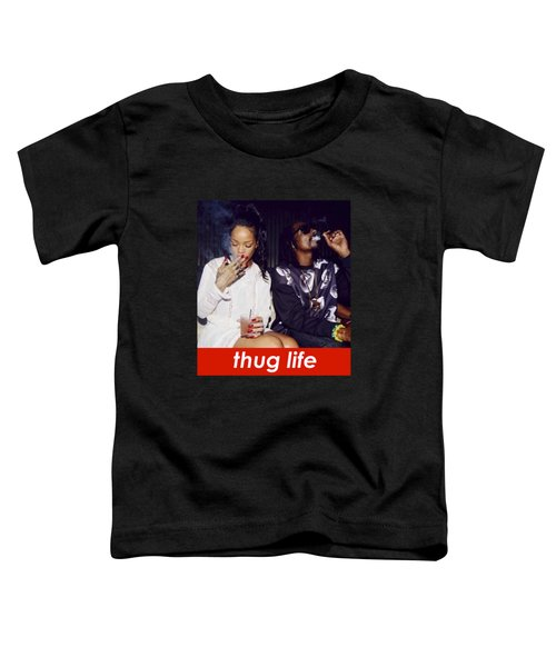 Thug Life Toddler T-Shirt by Bruna Bottin