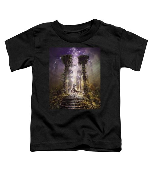 Thunderstorm Wizard Toddler T-Shirt