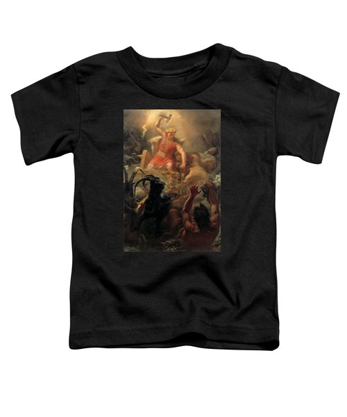 Tor's Fight With The Giants Toddler T-Shirt