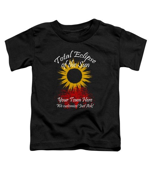 Total Eclipse Art For T Shirts Sun And Tree On Black Toddler T-Shirt