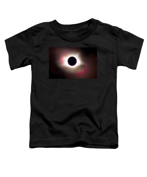 Total Eclipse Of The Sun T Shirt Art With Solar Flares Toddler T-Shirt