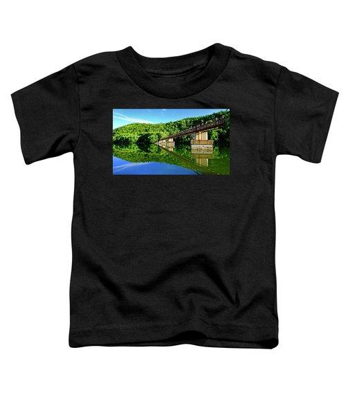 Tranquility At The James River Footbridge Toddler T-Shirt