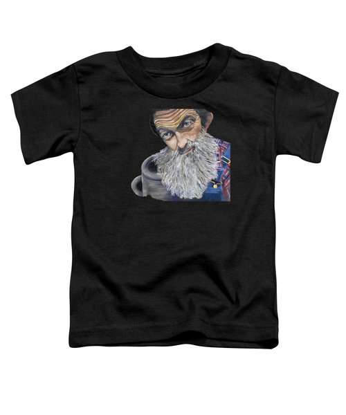 Popcorn Sutton Shines With Transparent Background -for T-shirts And Other Fabric Items- Moonshine Toddler T-Shirt