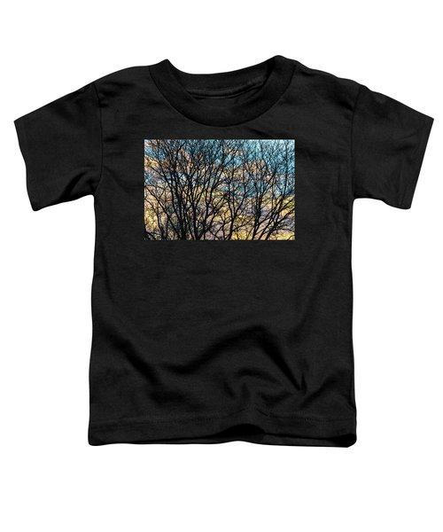 Toddler T-Shirt featuring the photograph Tree Branches And Colorful Clouds by James BO Insogna