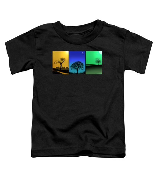 Tree Triptych Toddler T-Shirt by Mark Rogan