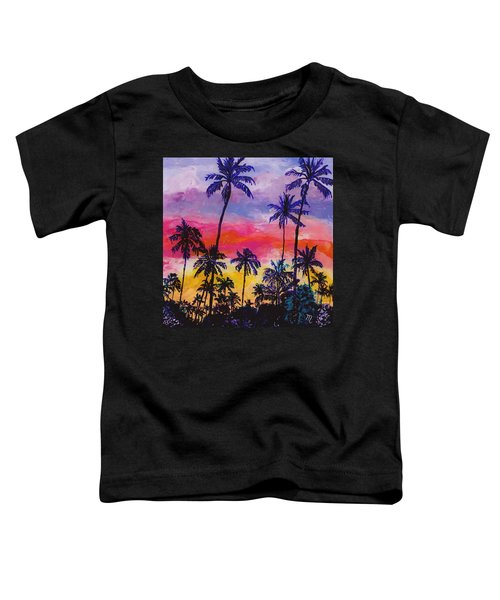 Tropical Coconut Trees Toddler T-Shirt