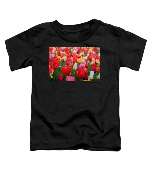 Toddler T-Shirt featuring the photograph Tulip Color Mix by Peter Simmons