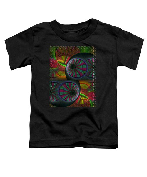 Tunneling Abstract Fractal Toddler T-Shirt by Sharon and Renee Lozen